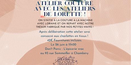 Atelier couture : charlotte en tissus billets