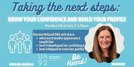 Taking the next steps: Build your confidence & Grow your profile tickets