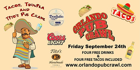 Tacos, Tequila, and Tito's Pub Crawl tickets
