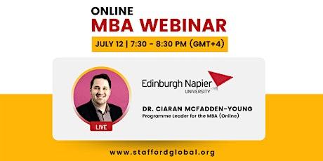 Edinburgh Napier University MBA Webinar for Canada tickets