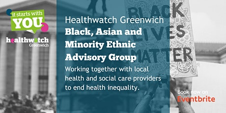 HWG Black, Asian and Minority Ethnic Advisory Group meeting tickets