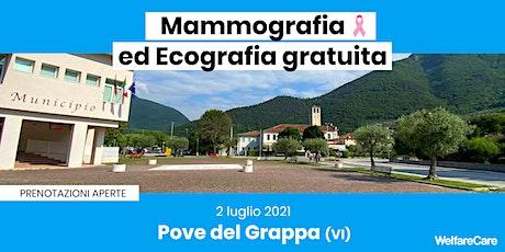 Mammografia ed Ecografia Gratuita - Pove del Grappa (VI) biglietti