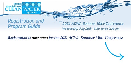 2021 ACWA Summer Mini-Conference tickets