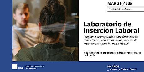 3º Laboratorio de Inserción Laboral biglietti