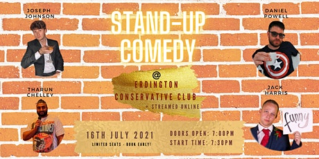 Stand-up Comedy streamed online from Erdington Conservative Club tickets