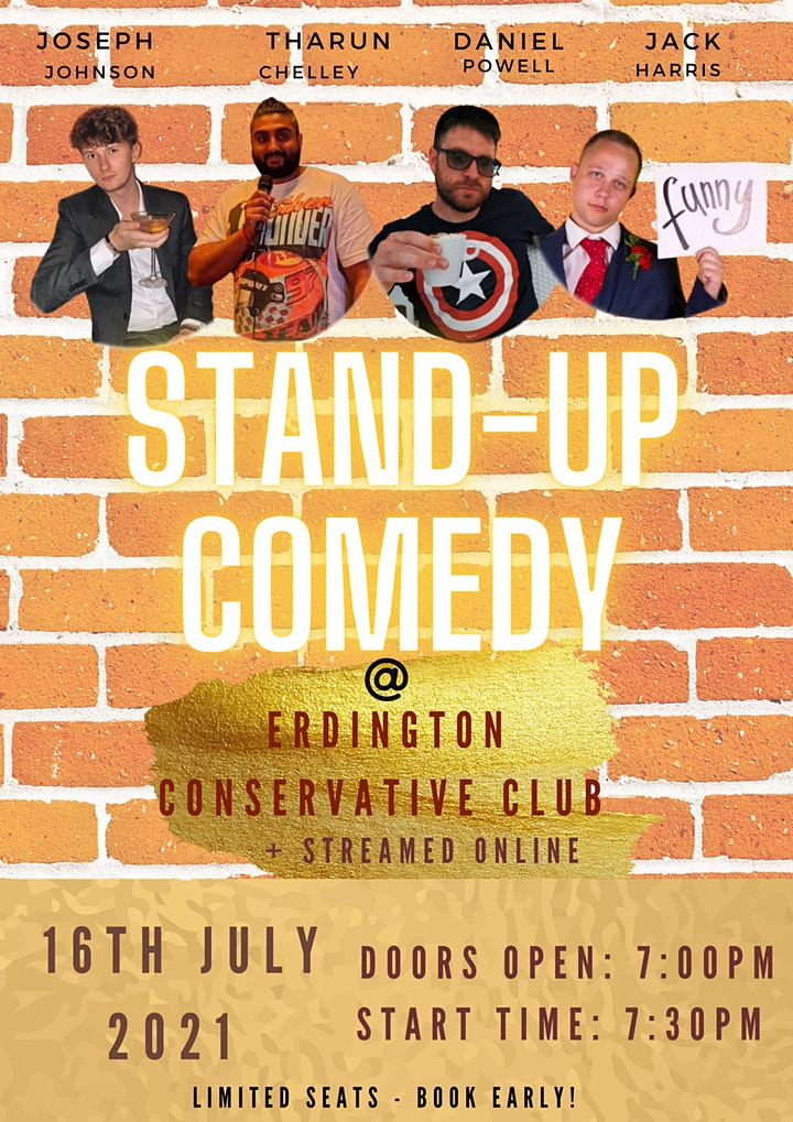 Stand-up Comedy streamed online from Erdington Conservative Club image