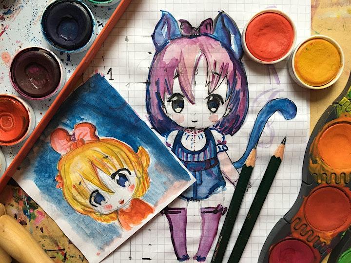 Online-Workshop I Manga Zeichnen I Mädchen-Figur I  Für Jugendliche ab 11: Bild