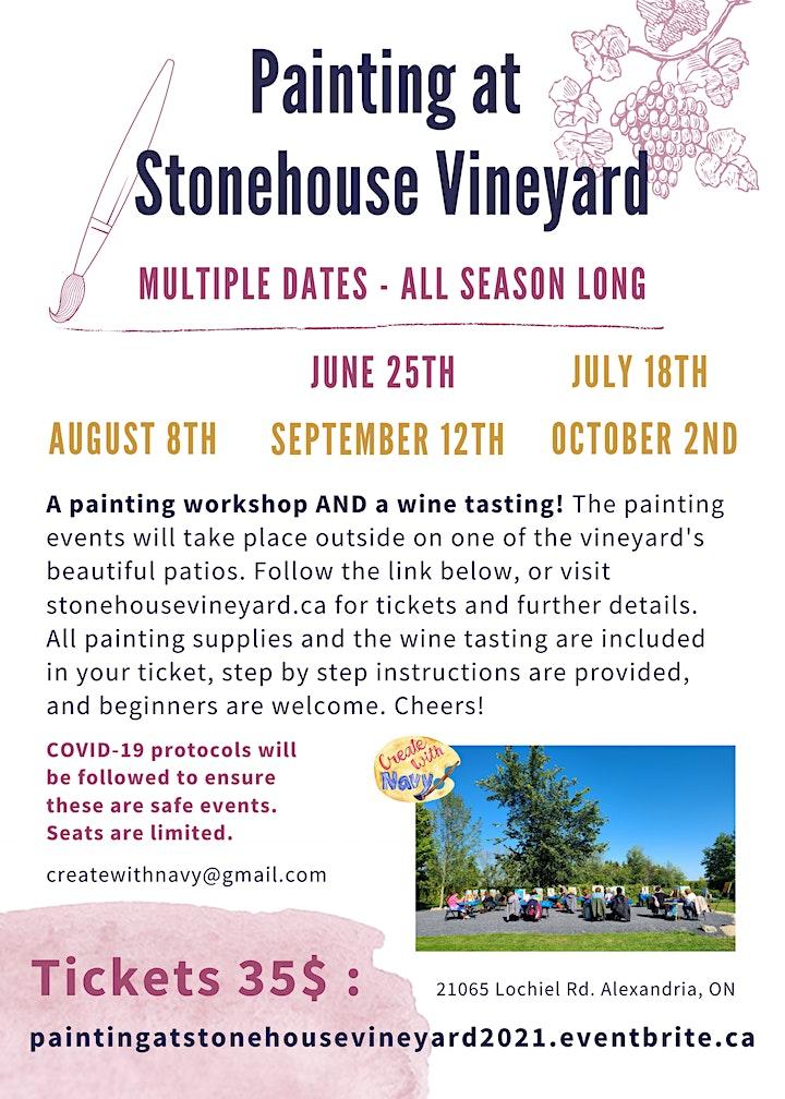 Painting at Stonehouse Vineyard image