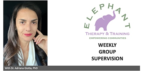 Weekly Group Supervision with Dr Adriana Giotta tickets