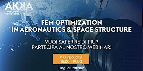Webinar - FEM Optimization in Aeronautics & Space Structure biglietti