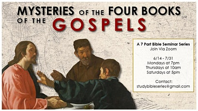 Mysteries of the Four Books of the Gospels tickets