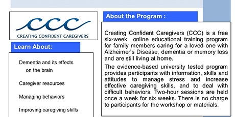 Creating Confident Caregivers - Online tickets