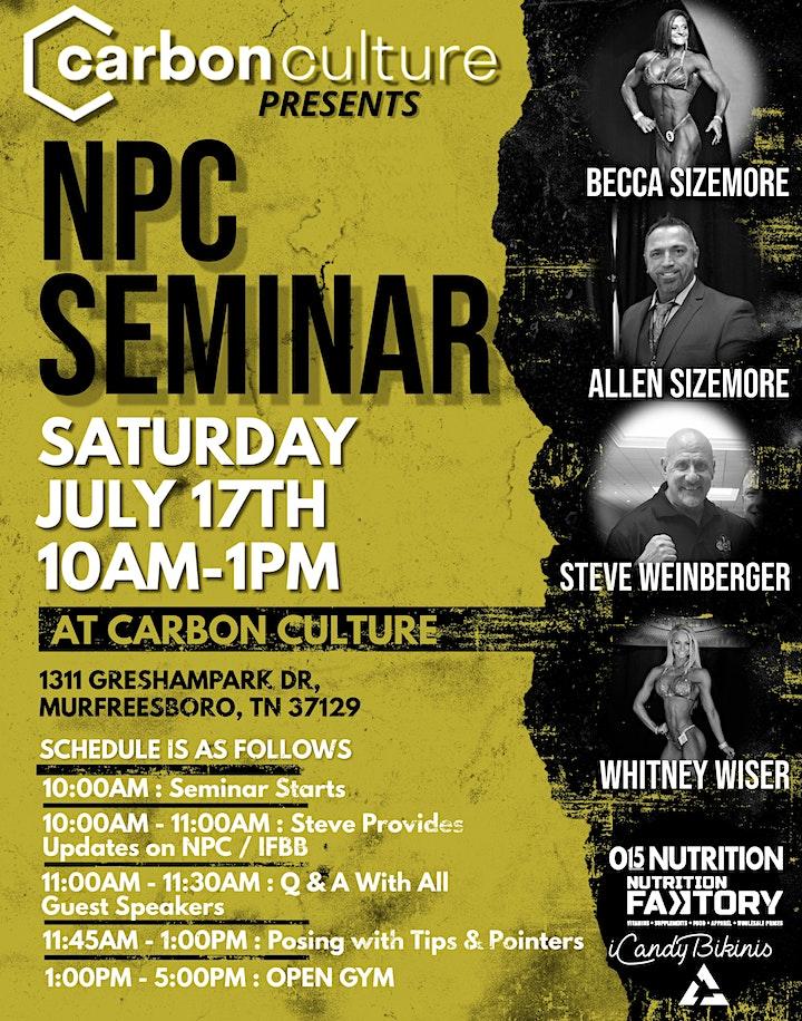 NPC Seminar at Carbon Culture image