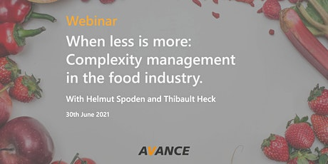 When less is more: Complexity management in the food industry tickets