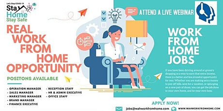 Wah Virtually Work From Home - Attend a live webinar biglietti