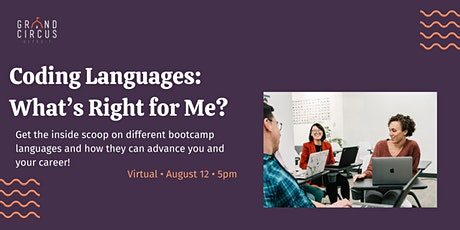 Coding Languages: What's Right for me? tickets