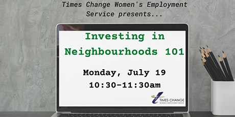 Investing in Neighbourhoods 101 tickets