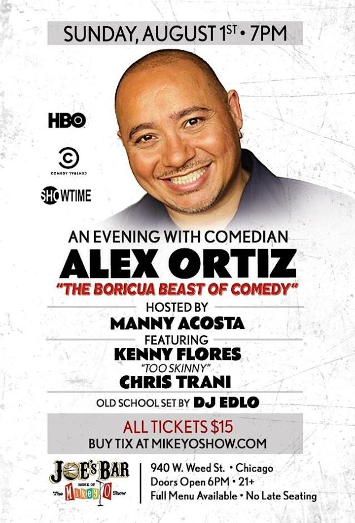 Mikey O Show presents Comedian Alex Ortiz image