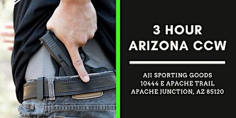 $65 - 3 Hour Arizona CCW  Permit Course tickets