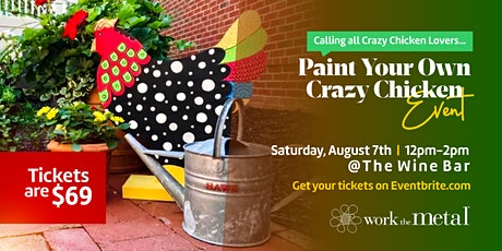 Paint Your Own Crazy Chicken Event tickets
