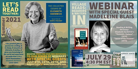 """Village Reads: """"The Collected Essays of Elizabeth Hardwick"""" Session 3 tickets"""