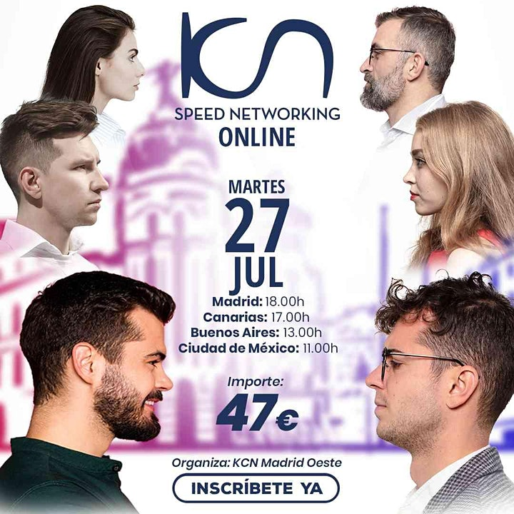 Imagen de KCN Madrid Oeste Speed Networking Online 27 Jul