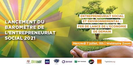 Lancement du Baromètre de l'Entrepreneuriat Social 2021 ! billets