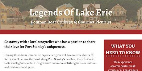 Pontoon Boat Cruises & Gourmet Picnics On Lake Erie, Port Stanley Ontario tickets