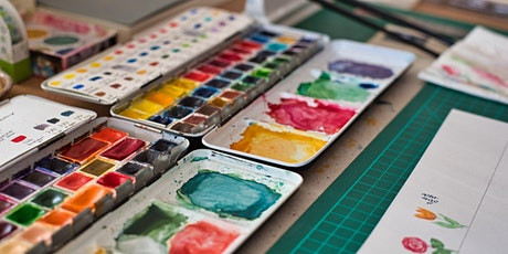 Online Introductory Watercolour Class (13+) tickets
