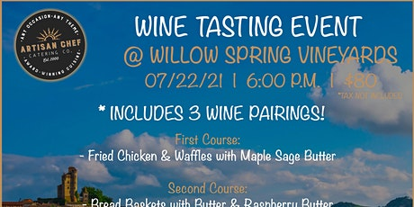 July Wine Tasting Dinner Event tickets