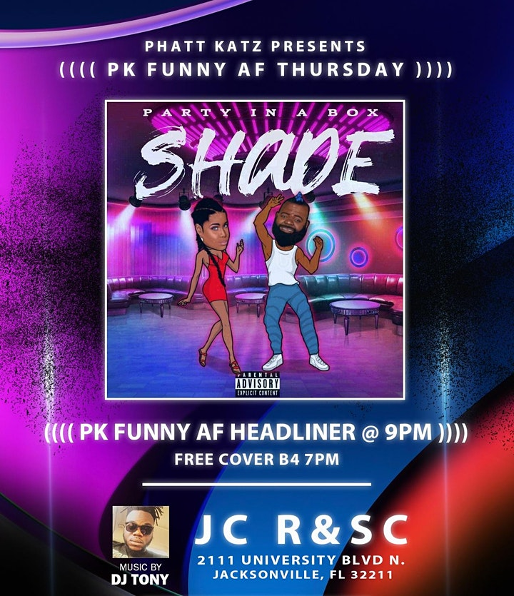 PK Presents Funny AF Thursdays with Live Music by Party in a Box image