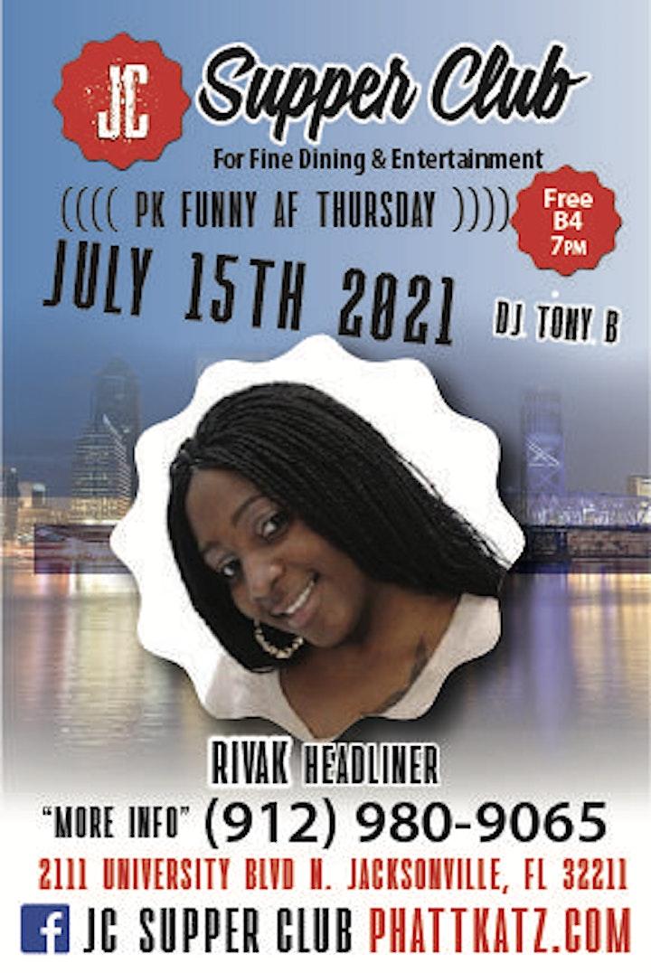 PK Funny AF Thursdays headliner Riva K image