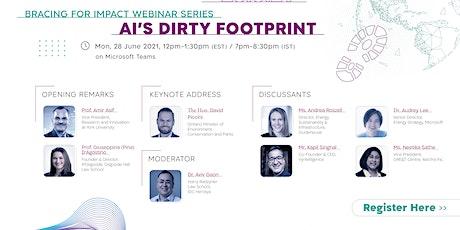 Bracing for Impact Webinar Series: AI's Dirty Footprint tickets