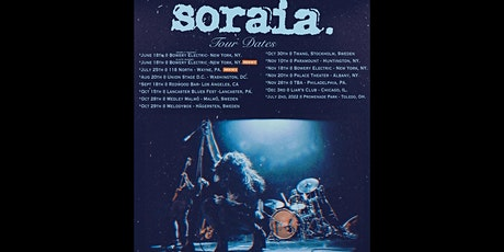 In Fuzz we Trust Presents Soraia Friday September 17th at the Redwood Bar tickets