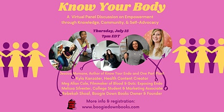 Know Your Body: A  Virtual Panel Discussion on Empowered Health and Healing tickets