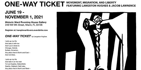 """""""One-Way Ticket"""" featuring Langston Hughes  and Jacob Lawrence tickets"""