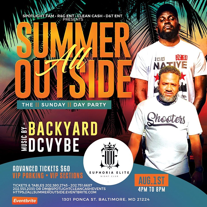 All Summer Outside - Backyard & DCVybe - Day Party image