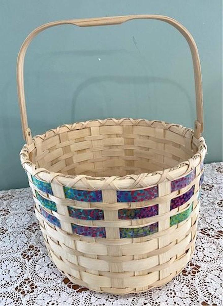 Fall Basket Class - Batik Ribbon Basket image