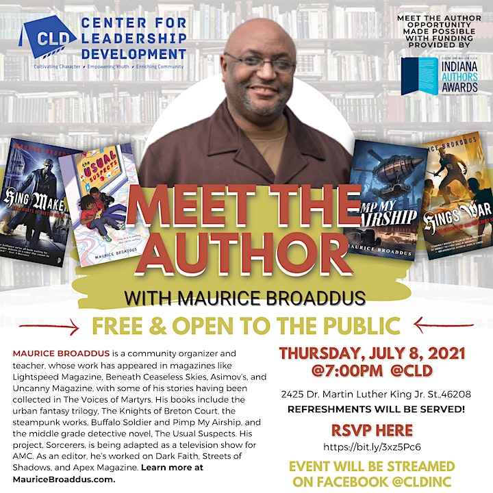 Meet the author! Maurice Broaddus at CLD image