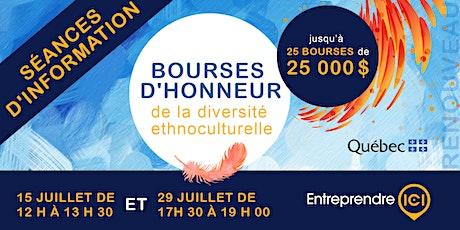 Séance d'information des Bourses d'honneur 2021 billets