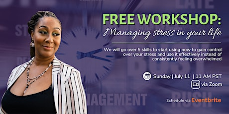 Free Workshop: Managing stress in your Life tickets