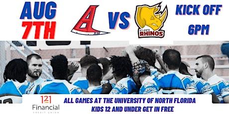 Jacksonville Axemen vs Atlanta Rhinos tickets
