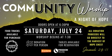 CommUNITY Worship - A Night of Hope! tickets