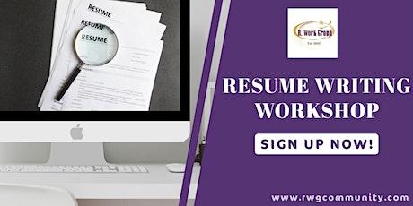 Resume Writing Part 1 - Online Workshop tickets