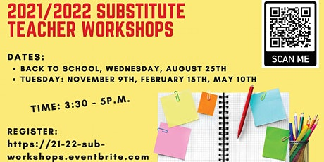 2021/2022 Substitute Teacher Workshops tickets