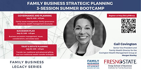 Family Strategic Planning 3-Session Summer Bootcamp tickets