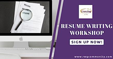 Resume Writing Part 2 - Online Workshop tickets
