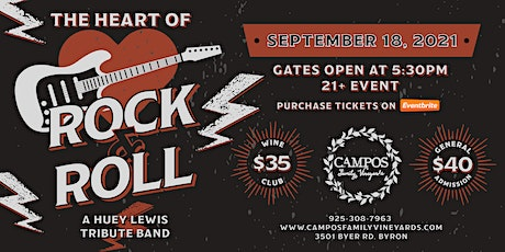 Heart of Rock & Roll - A Huey Lewis Tribute Band tickets