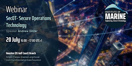 WEBINAR: SecOT- Secure Operations Technology tickets