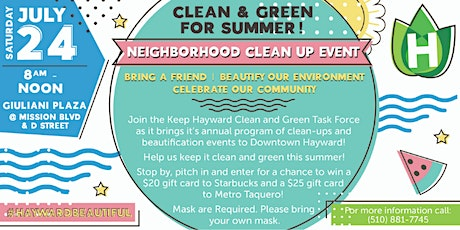 July 2021 Neighborhood Clean-up Event tickets